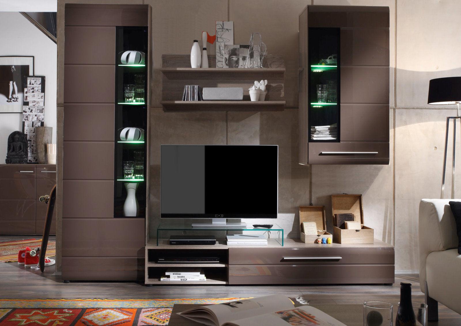 massivholzmobel wohnzimmerschrank, vitrine john trend + beleuchtung wohnzimmer schrank möbel braun, Design ideen