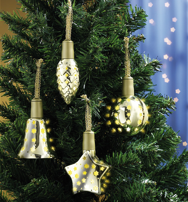 8x lichterglanz led weihnachtsbaum kugel baum schmuck. Black Bedroom Furniture Sets. Home Design Ideas