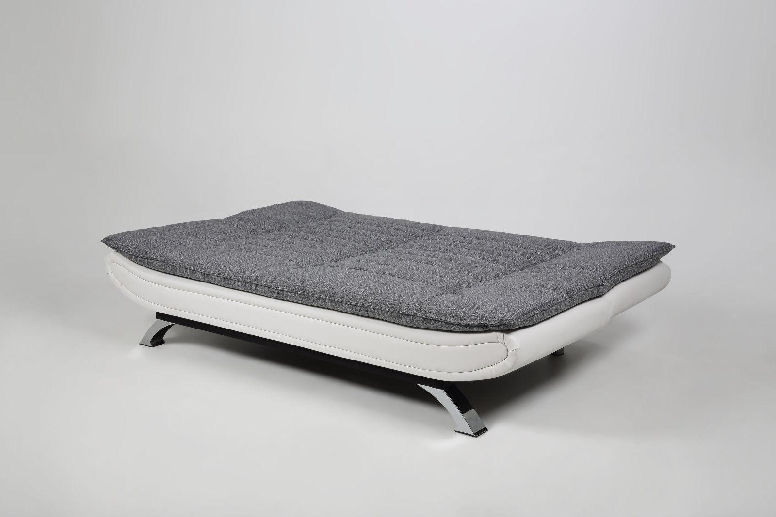 Pkline Schlafsofa Weiss Grau Schlafcouch Funktionssofa Gaste Bett Couch