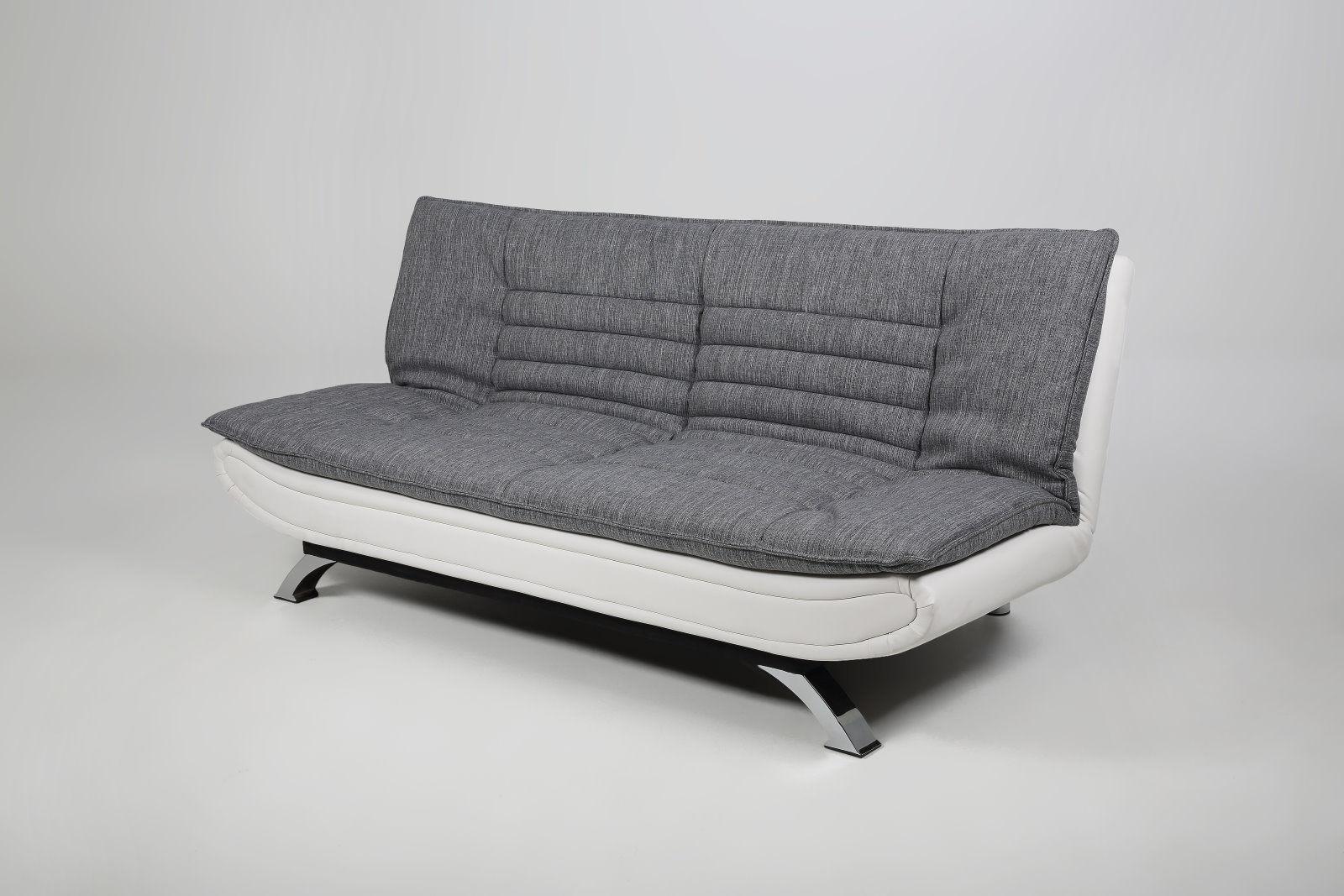 Details Zu Pkline Schlafsofa Weiss Grau Schlafcouch Funktionssofa Gaste Bett Couch