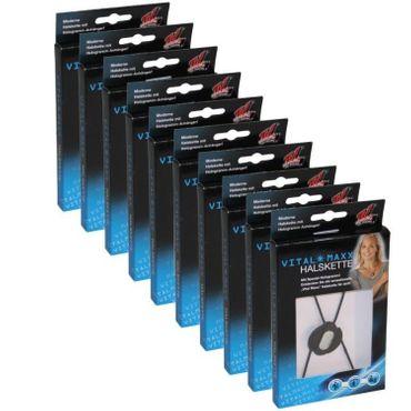 10x Energie Balance Hologramm Kette Halskette schwarz Silikonkette Wohlbefinden