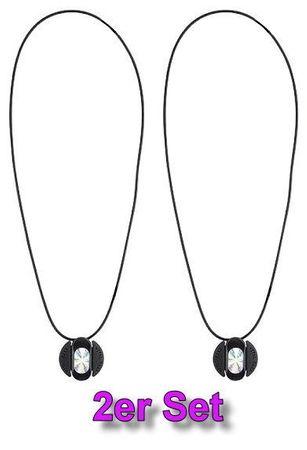 2x Vital Maxx Halskette Freundschaftskette Kette Energie Hologramm Modeschmuck