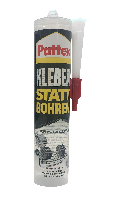 Pattex Kleben statt Bohren Montagekleber Kleber kristallklar Baukleber