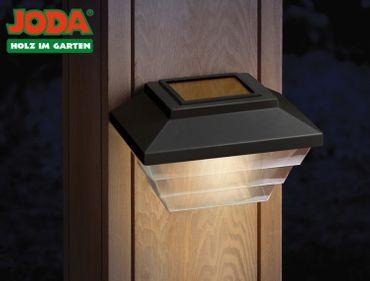 JODA 2er Set Topline Solarleuchte m. Akku Solarlampe Garten Hauslampe schwarz