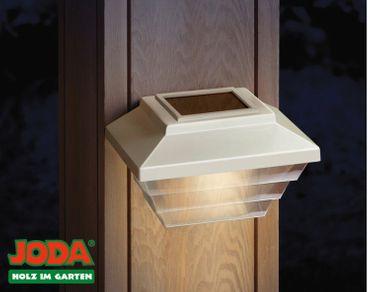 JODA 2er Set Topline Solarleuchte m. Akku Solarlampe Garten Licht Hauslampe weiß