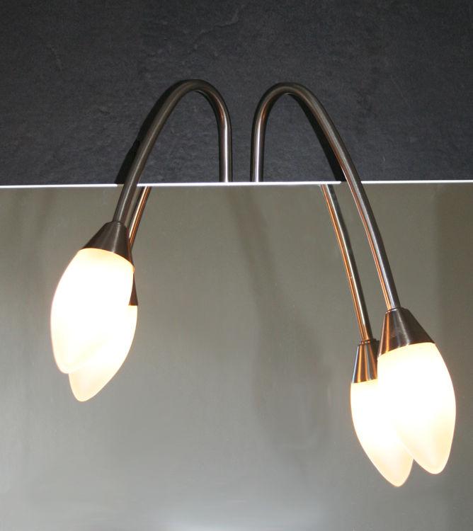 Halogenleuchte Spiegelleuchte Halogen Lampe Glas Leuchte Badezimmer  Beleuchtung | dynamic-24.de
