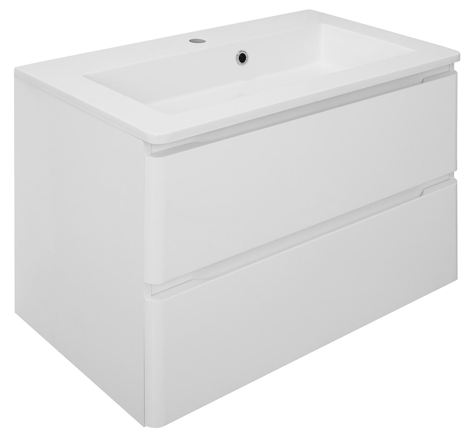 Waschbeckenunterschrank MAJA in weiß mit Waschbecken Unterschrank Bad  Badmöbel   dynamic-24.de