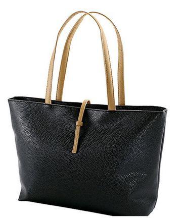 Handtasche Reise Schulter Tasche Damen Shopper schwarz Kunstleder Messenger Bag