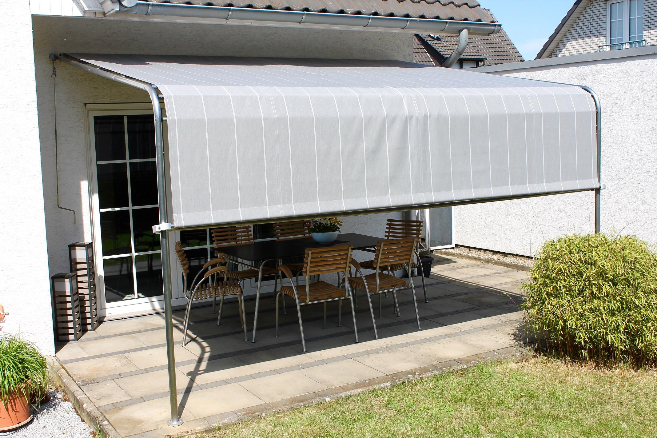 leco terrassenuberdachung 300x400 terrasse uberdachung markise sonnenschutz grau