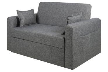 PKline Schlafsofa RIA in grau Schlafcouch Funktionssofa Gäste Bett Couch