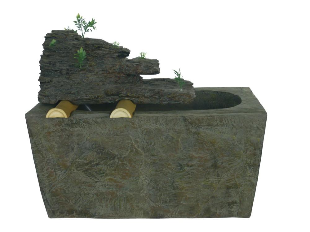 67cm Brunnen Stein Optik Wasserspiel Springbrunnen Garten Wasser ...