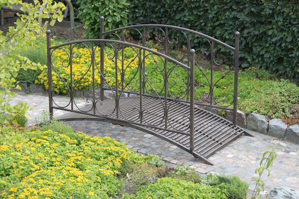 Stahl Gartenbrücke Brücke Teichbrücke Antik Optik Garten Teich Steg