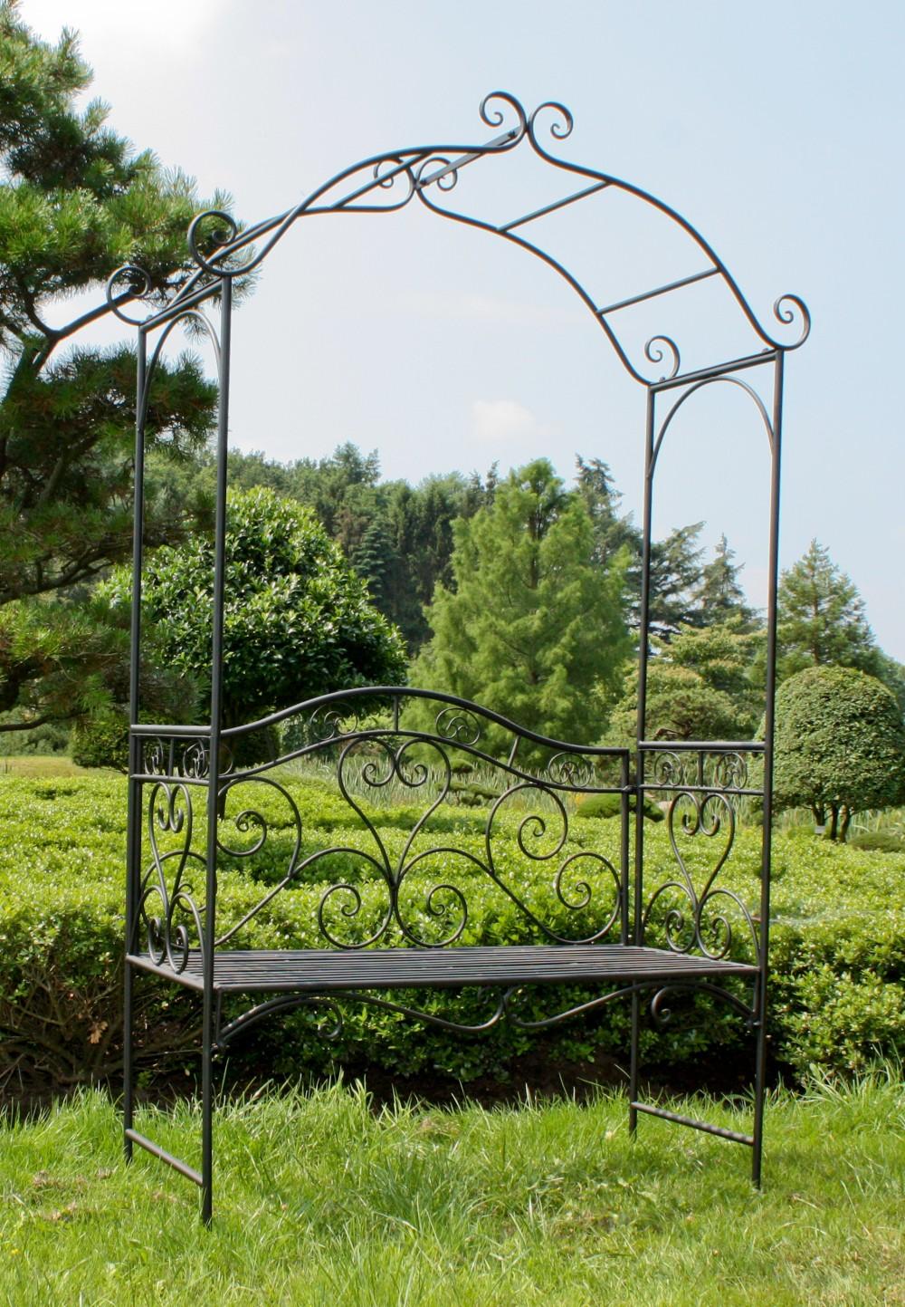 Garden Pleasure Metall Bank Rosenbogen Rankhilfe Parkbank Sitzbank ...