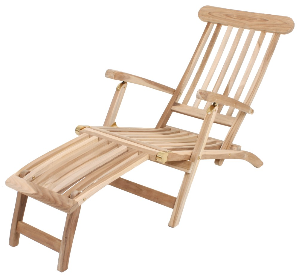 garden pleasure teak deckchair garten holz relax liege sonnenliege