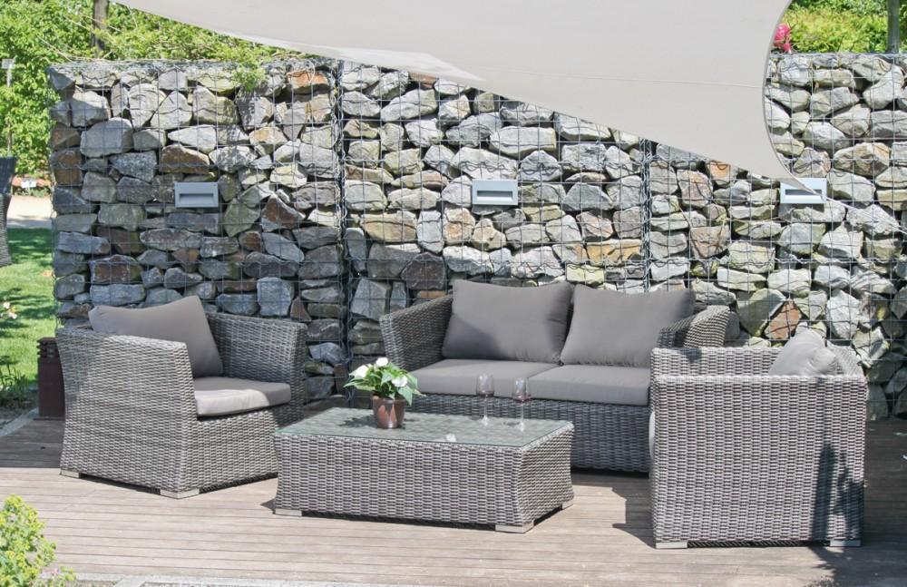 Garten Lounge Sitzgruppe Relax Sofa Tisch Sessel Terrasse Möbel