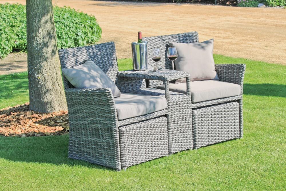 Garten Doppelsessel Set Terrasse Sessel Lounge Sitzgruppe ...