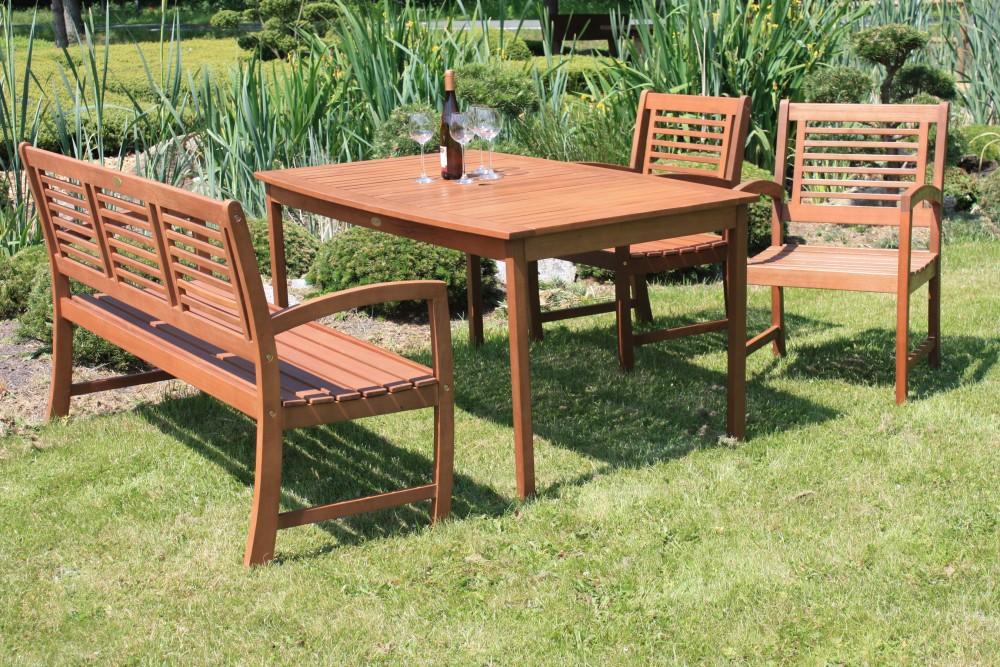 4tlg Garden Pleasure Tischgruppe Madison Tisch Bank Sessel