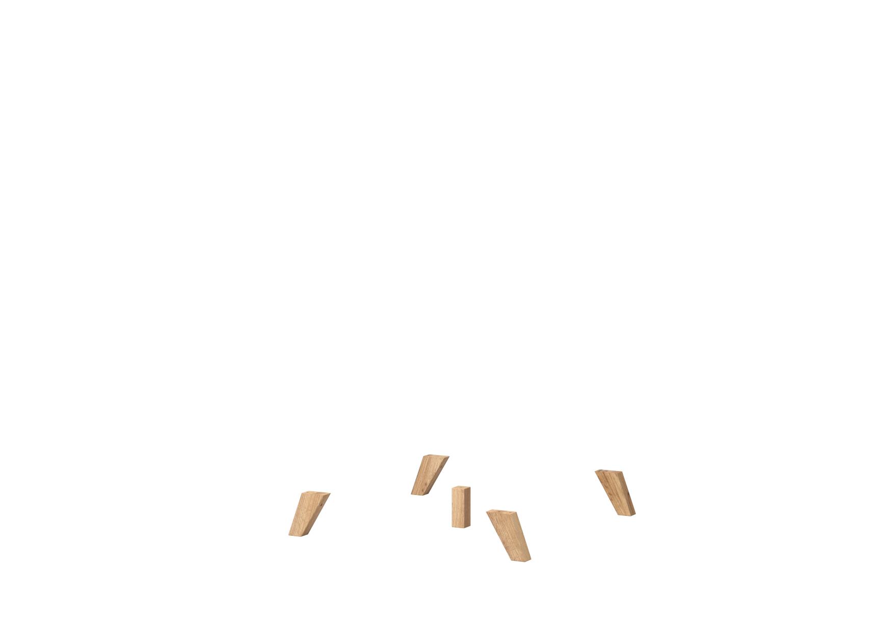 fuß-set 1 - hoch föhr massivholz navarra füße fuß schrankfüße