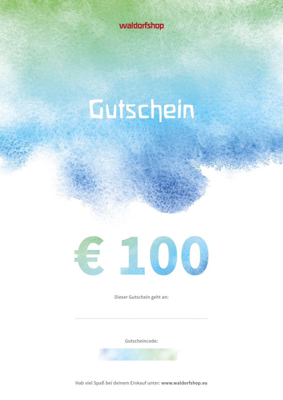 Geschenk Gutschein 100