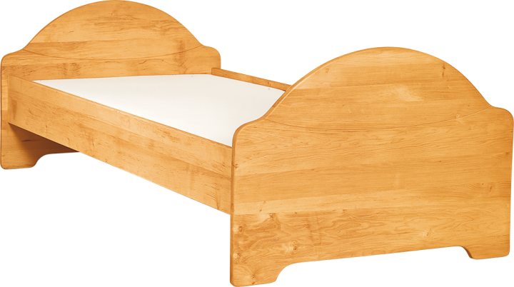 Livipur Justus Youth Bed 90/200 with Elliptical Foot Board