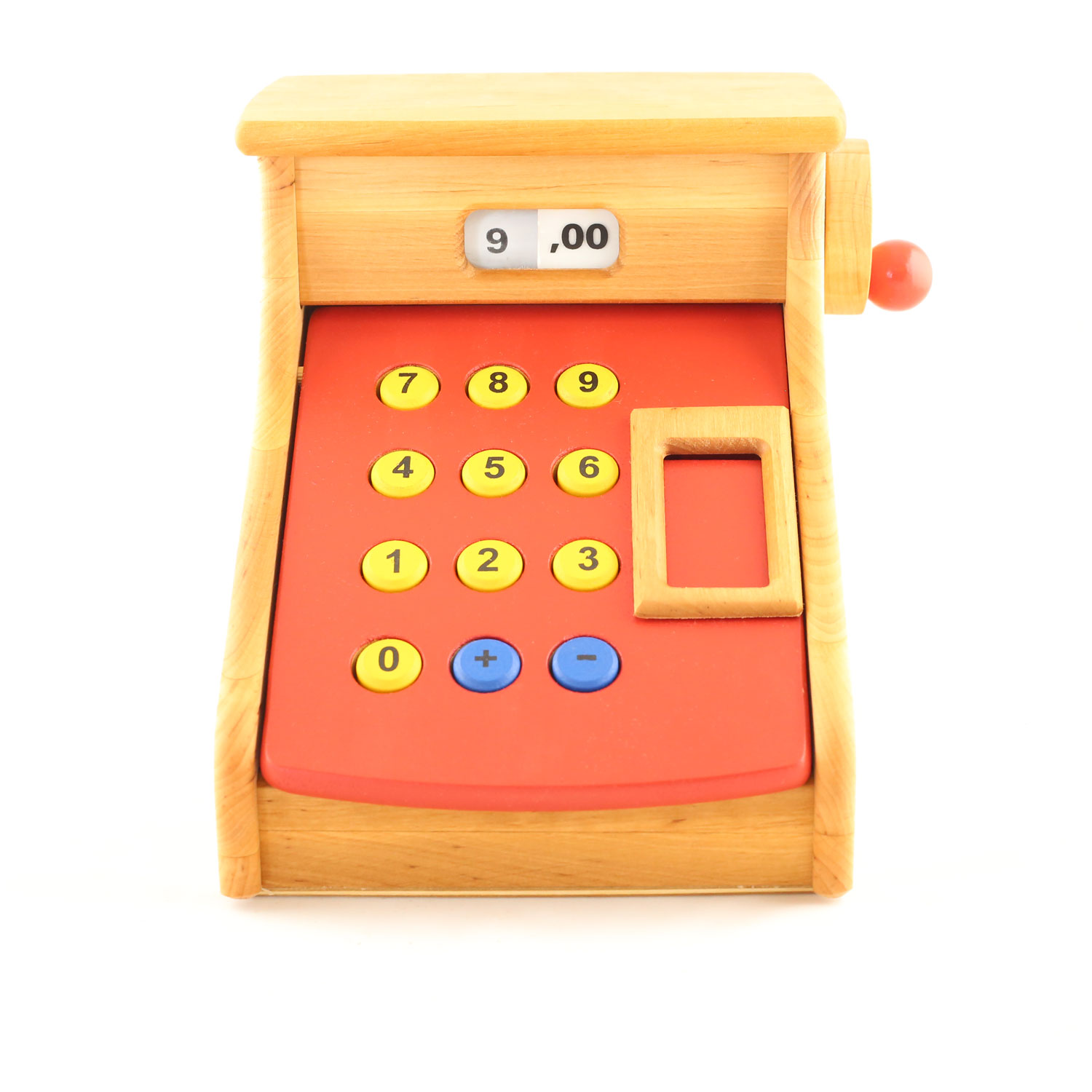 Wooden Cash Register with Red Cover