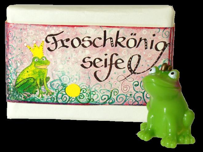Froschkönigseife, Blockseife mit Märchenmotiv