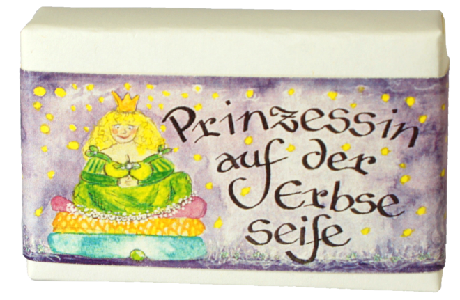Block of Soap with a Fairy Tale Image of The Princess and the Pea