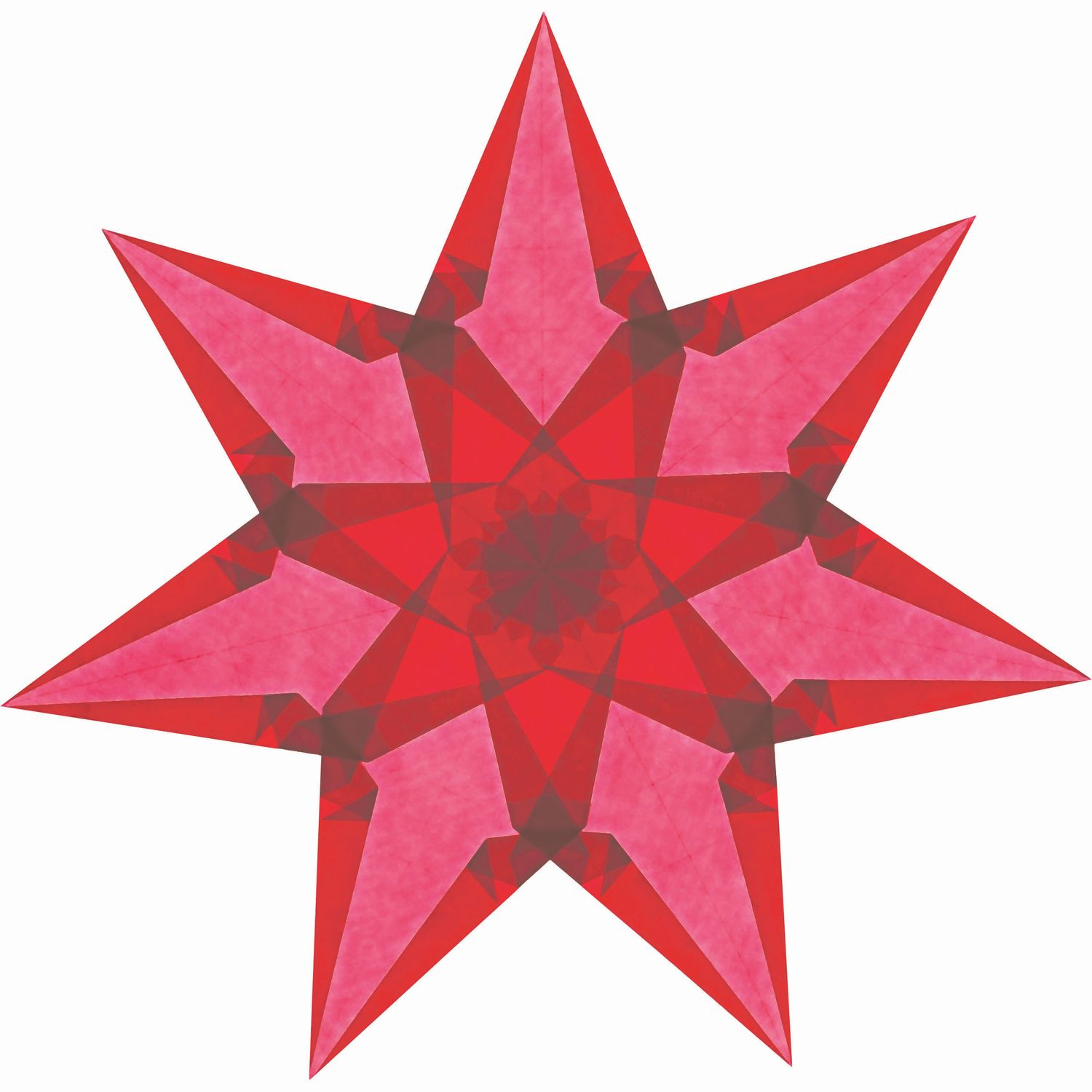 Kit to make your own Window Stars in Warm Colours