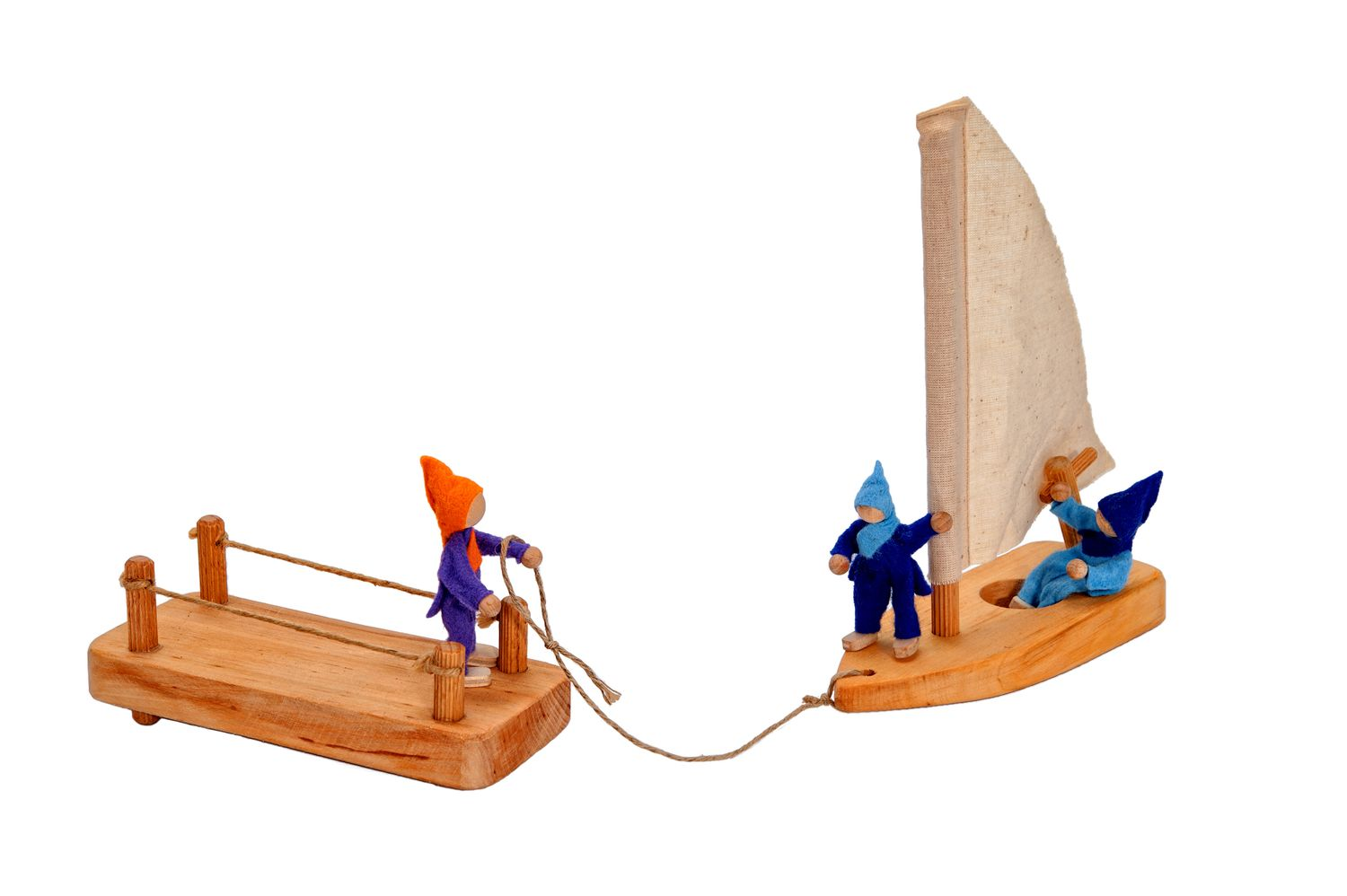 Sailboat with Wooden Jetty