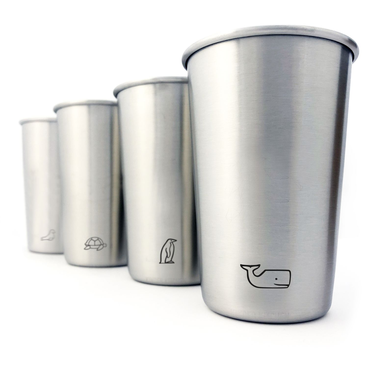 Stainless Steel Mug Forest- and Marine Animals