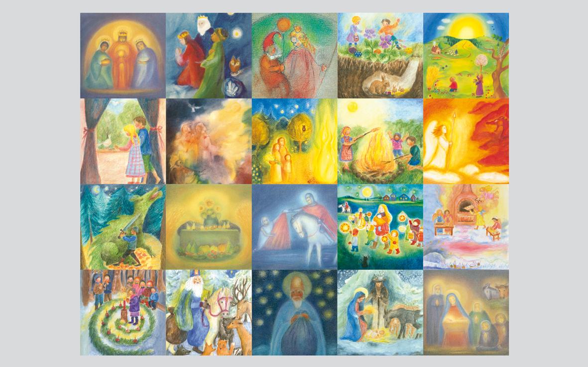 Set of 22 Postcards Seasonal Celebrations