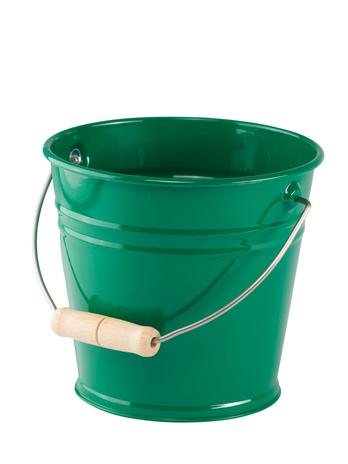 Metal Bucket in Red, Yellow, Blue or Green