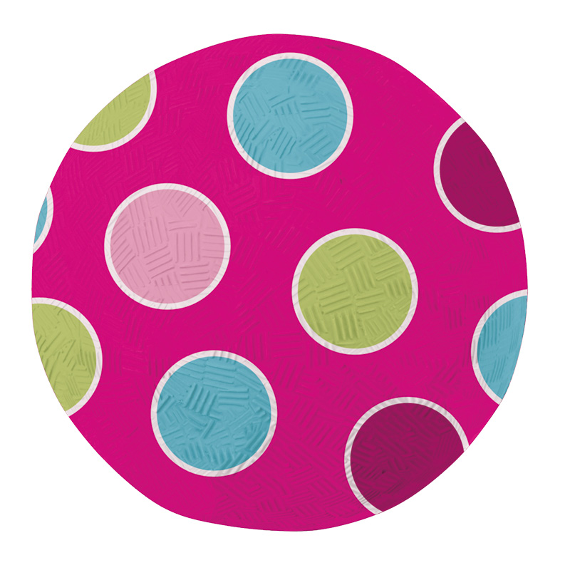 Ball with Polka Dots made of Natural Rubber