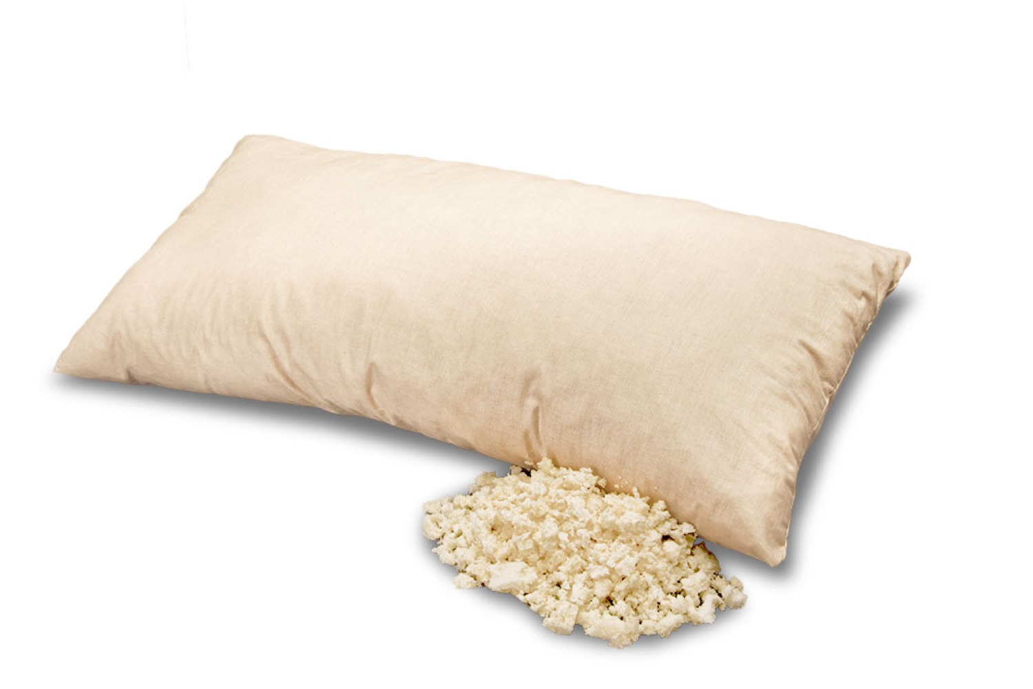 Pillow Filled with Latex Flakes 40 x 80 cm