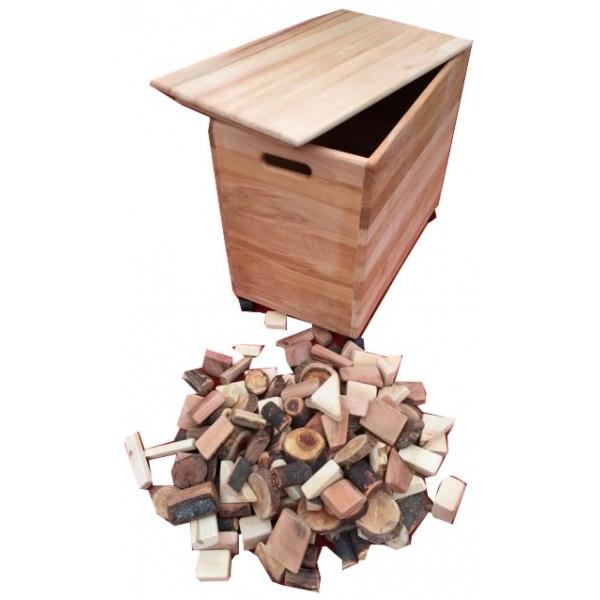 Cubus Mobile Wooden Box full of Building Blocks