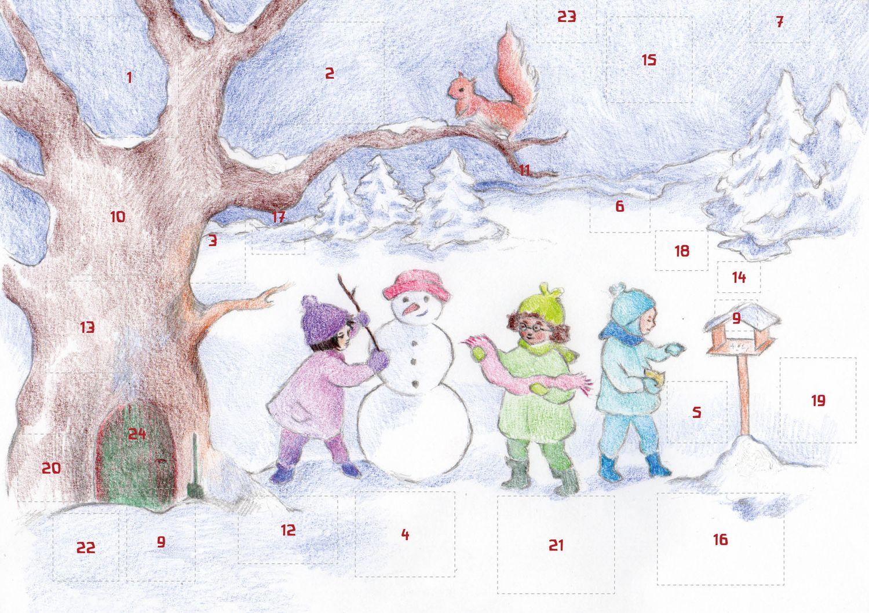 """waldorfkind - Adventskalender: """"Kinder im Schnee"""" von Ella Manor Lapointe"""