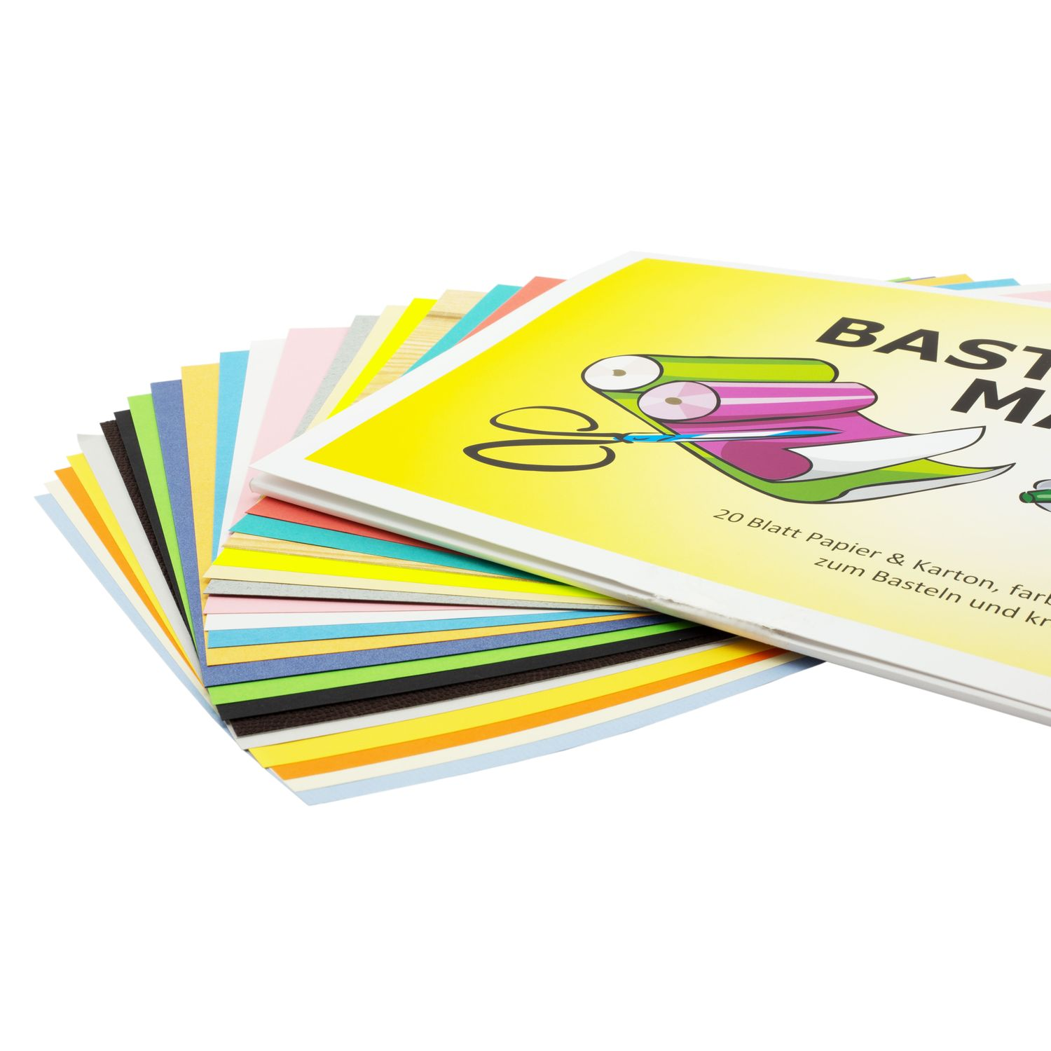 Craft Paper A4, 20 Sheets in Assorted Colours