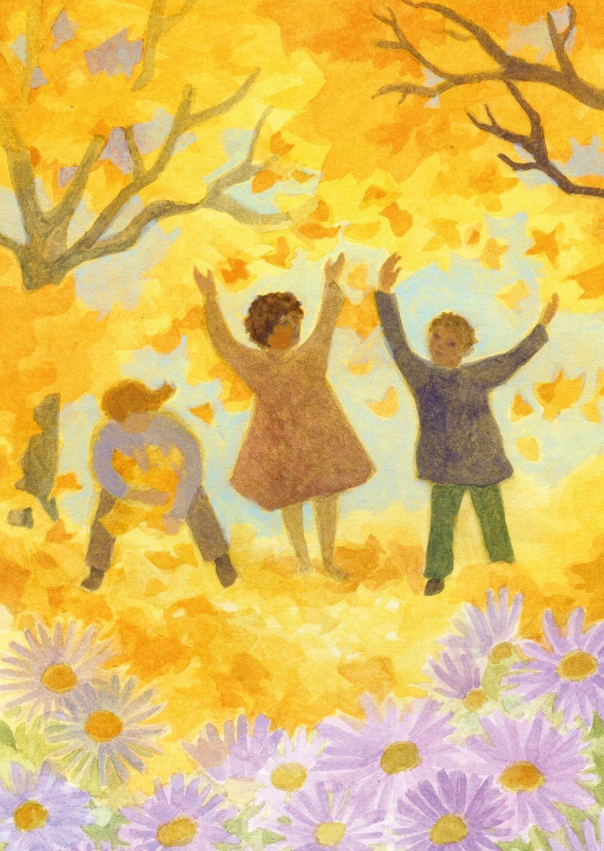 Postcard Autumn by Ella Manor Lapointe