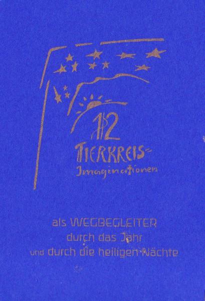 12 Tierkreiskarten für die hl. Nächte, blau