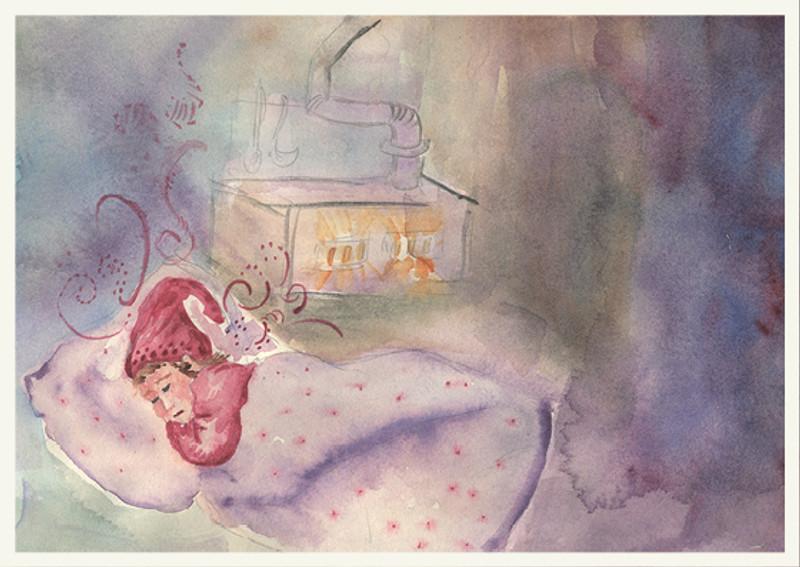 Greeting Card Sleeping Gnome