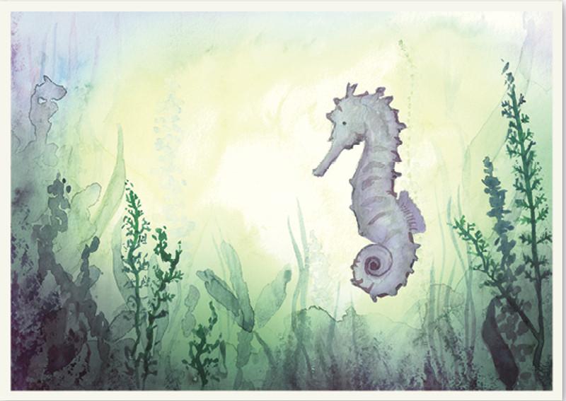 Postcard Sea Horses