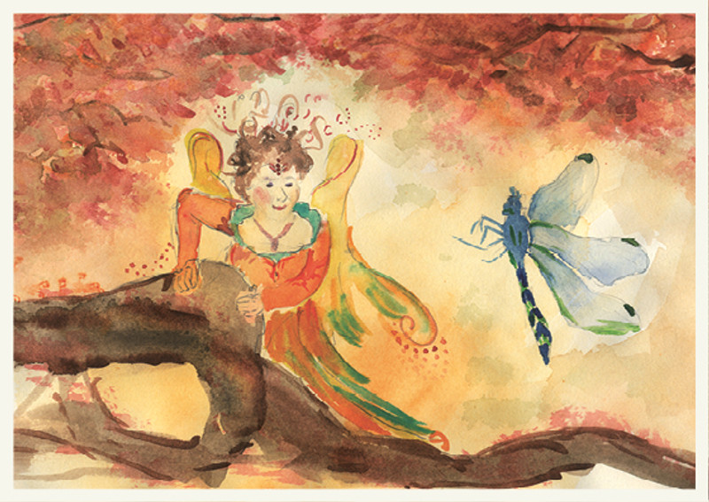 Greeting Card Fairy with Dragonfly