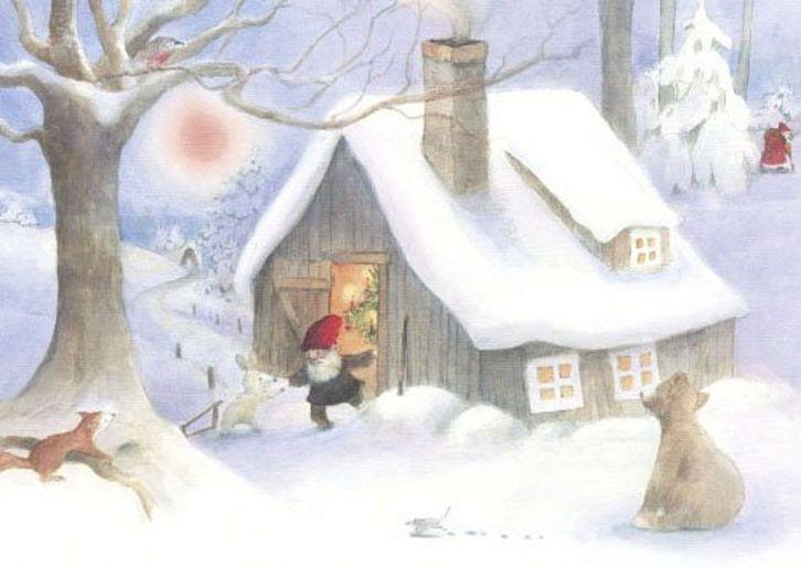 Postkarte: Weihnacht im Wald