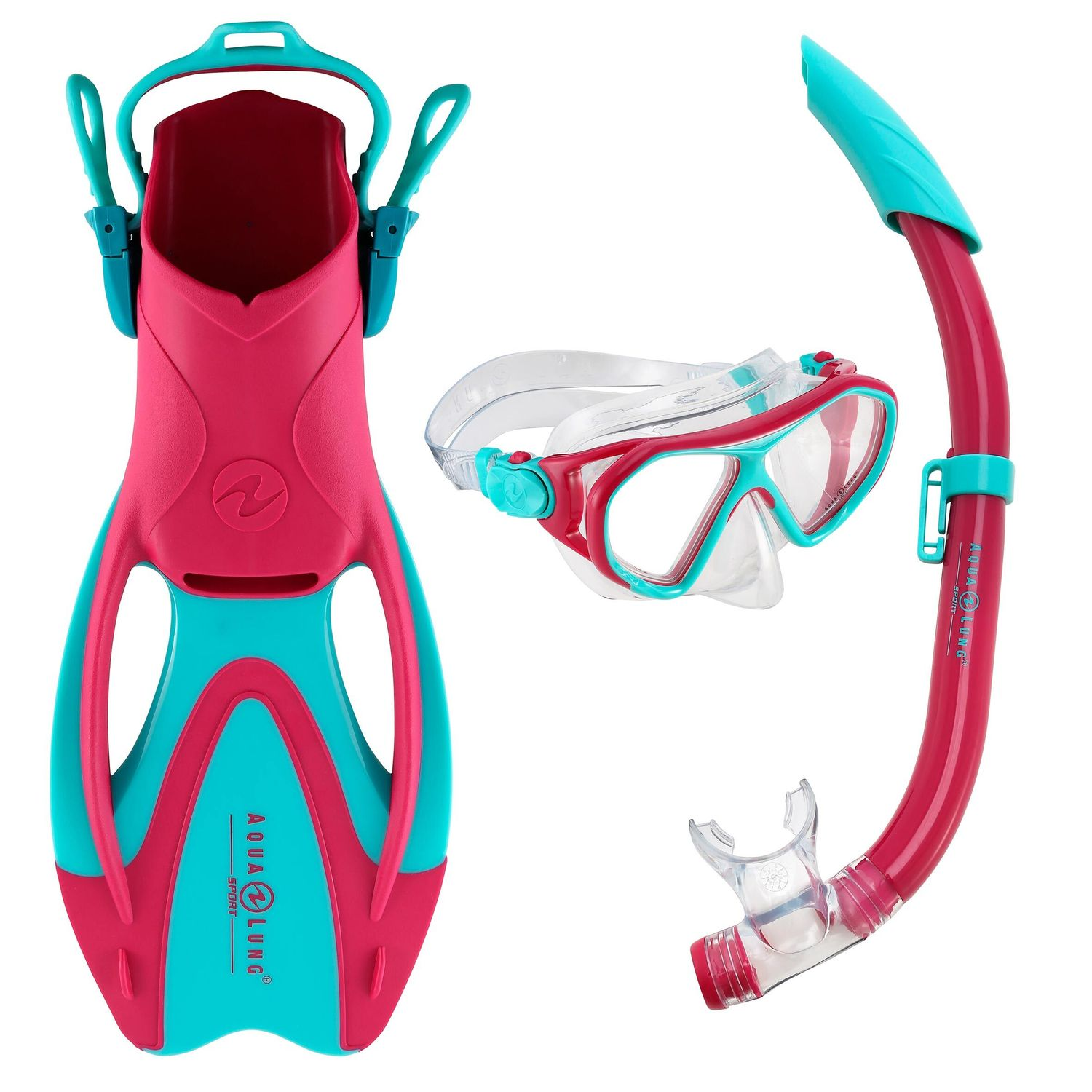 Snorkelling Set with Diving Goggles, Snorkel and Flippers