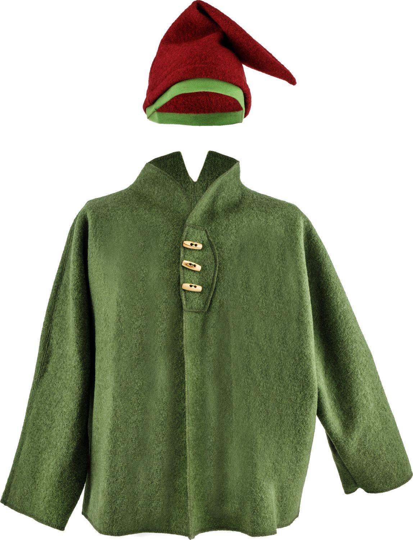 Mantel aus Bio-Wollwalk