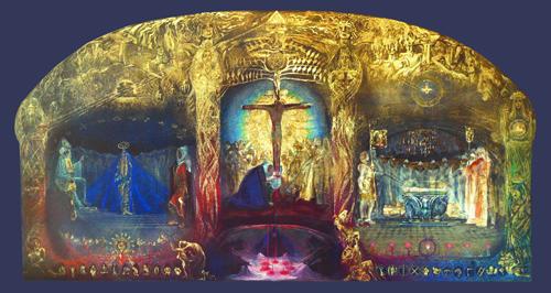 Triptychon Gral - Wandbild (Leinwand)