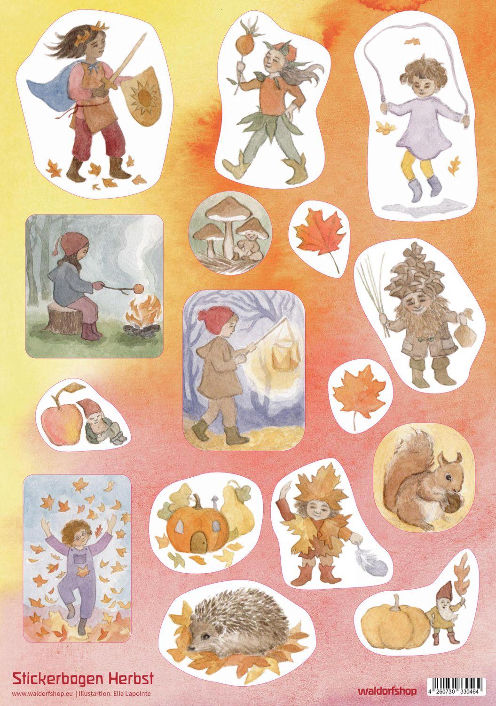 Stickerbogen: Herbst