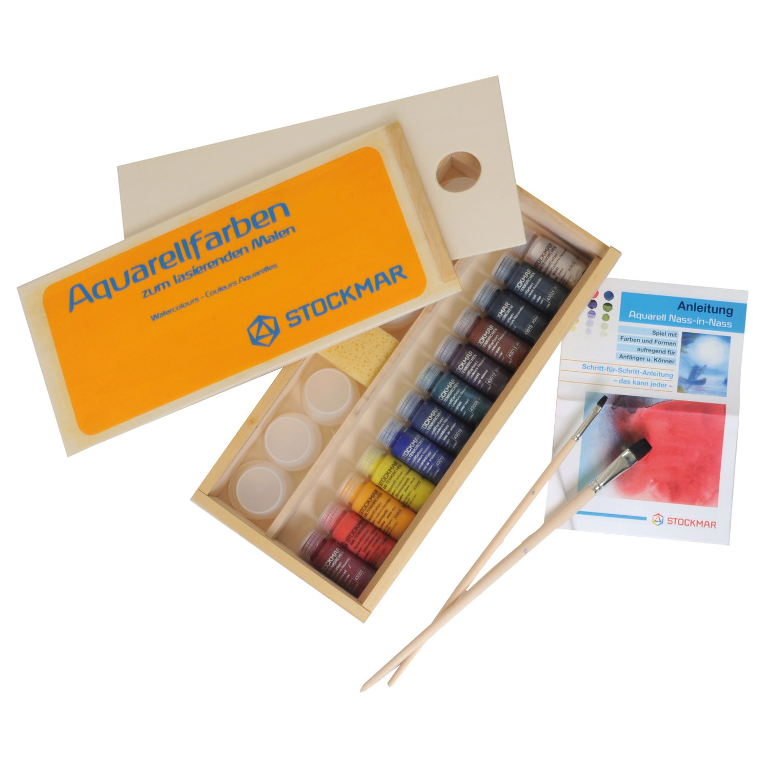 Stockmar Watercolour Paint Set in Wooden Gift Case
