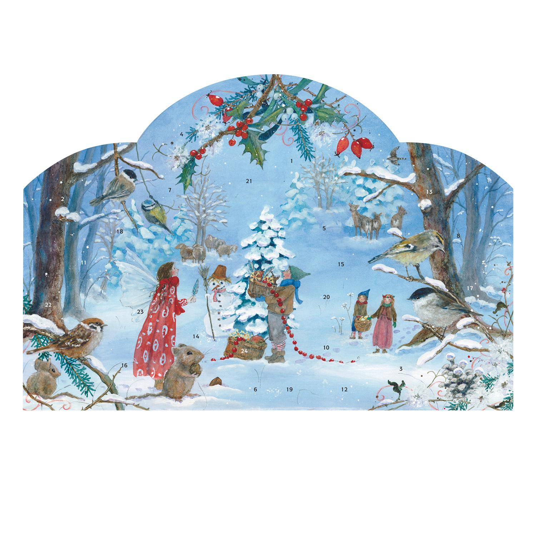 Advent Calendar Little Fairy Celebrates Christmas