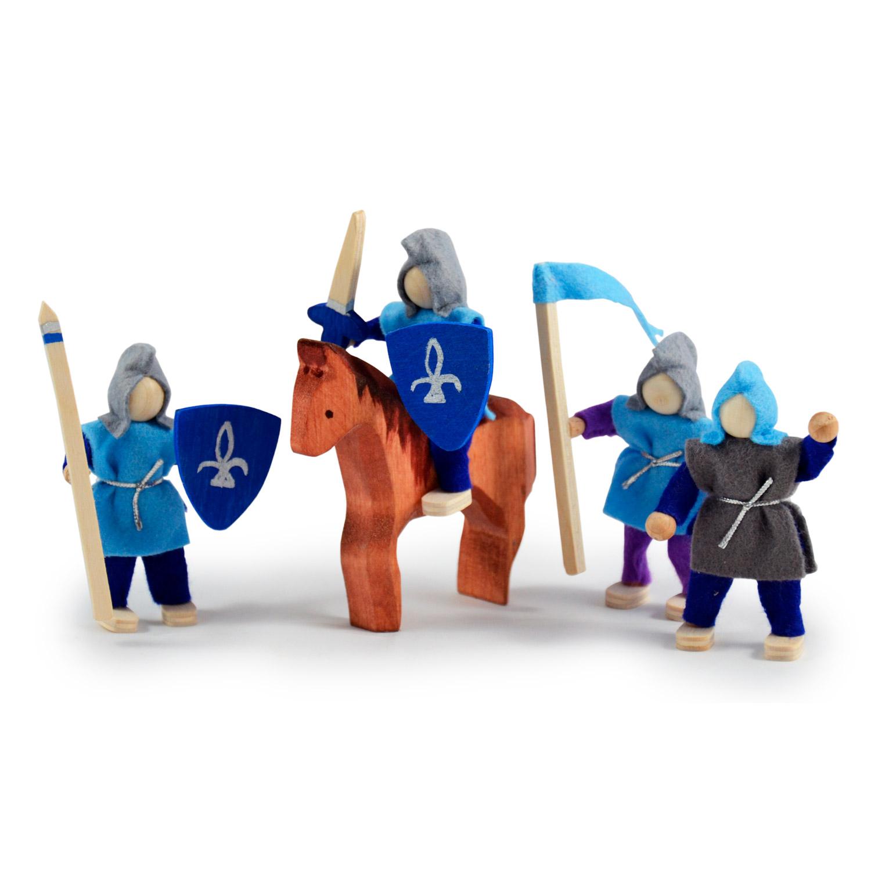Set of 4 Bendy Knights